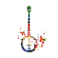 Colorful Banjo Design