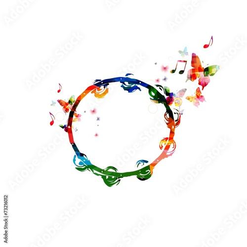 Fototapeta Colorful tambourine design