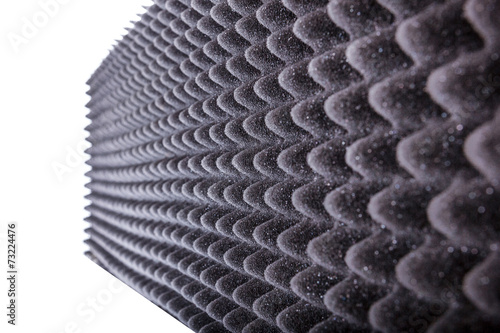 Fotografia, Obraz  microfiber insulation for noise in music studio or acoustic hall