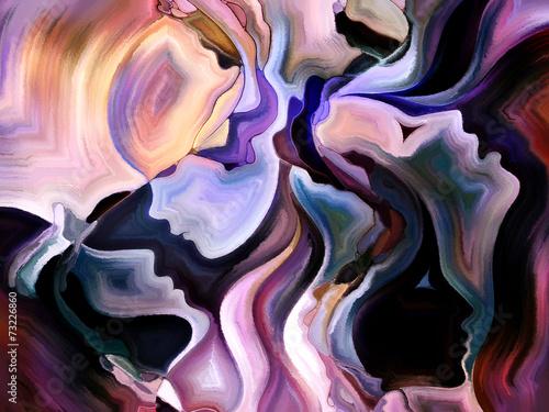abstrakcyjne-i-artystyczne-twarze-kobiet-namalowane-fioletowymi-farbami
