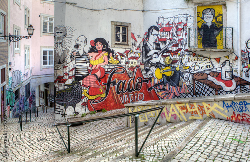 Street Art - Lisbon Canvas Print