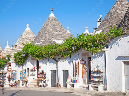 Traditional Trulli houses Canvas Print