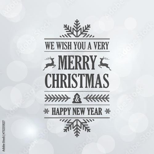 Fotografía  Merry Christmas Vintage Retro Typography Lettering Design