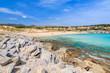 Beautiful sandy beach Cala Mesquida, Majorca island