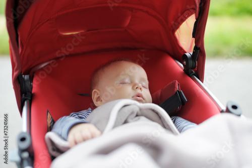Fotografie, Obraz  Sweet baby in stroller