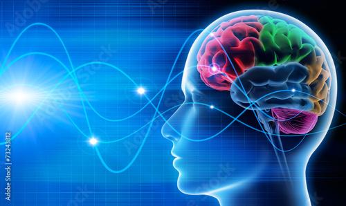 Abstract wave Gehirn - Schwingungen 1