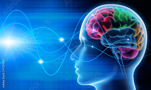 Gehirn - Schwingungen 1 Fototapeta