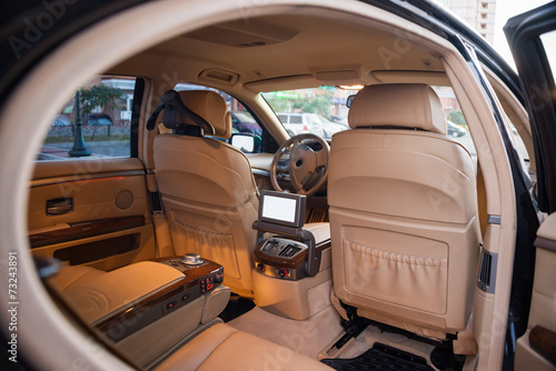 Keuken foto achterwand Vintage cars Expensive car interior