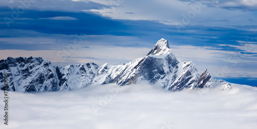 The Dent d'Hérens is a mountain in the Pennine Alps, lying on t