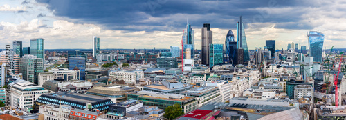 Staande foto London The City of London Panorama
