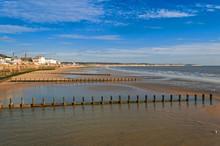 English Seaside Resort Low Tide