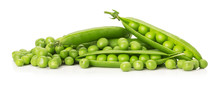 Green Peas Isolated On The Whi...