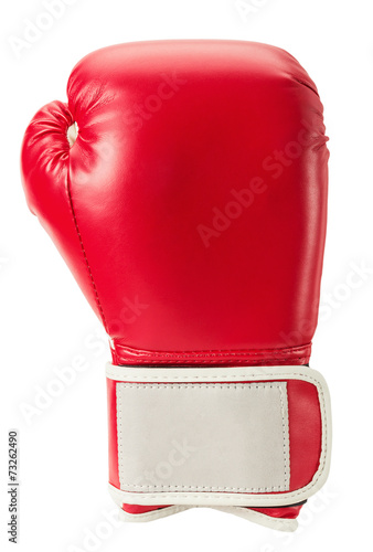 Vászonkép boxing glove isolated on the white background