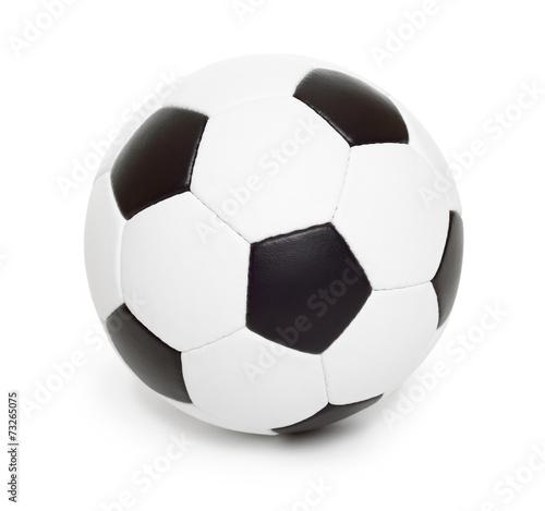 Staande foto Bol soccer ball object on white