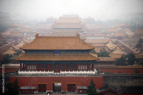 Spoed Foto op Canvas Beijing Forbidden City in Beijing