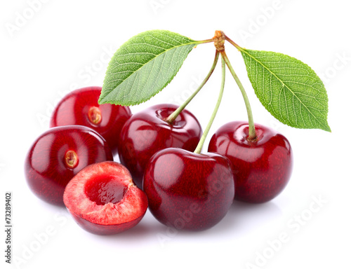 Ripe cherry in closeup Wallpaper Mural