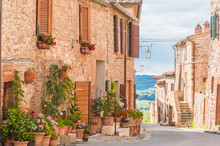 The Medieval Old Town In Tusca...