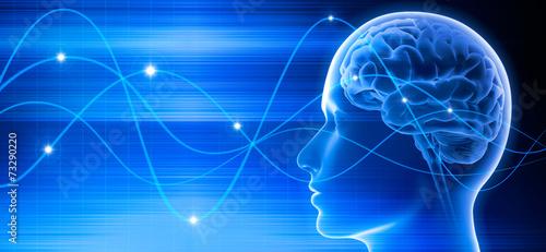 Gehirn - Schwingungen 3 Fototapeta