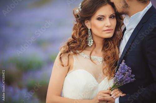 Fototapeta  Wedding lavender field.