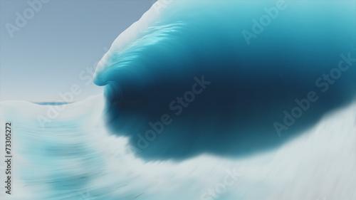 Stickers pour porte Eau Big wave