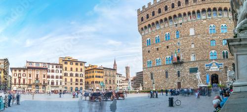 Aluminium Prints Florence Piazza della Signoria with Palazzo Vecchio in Florence, Italy