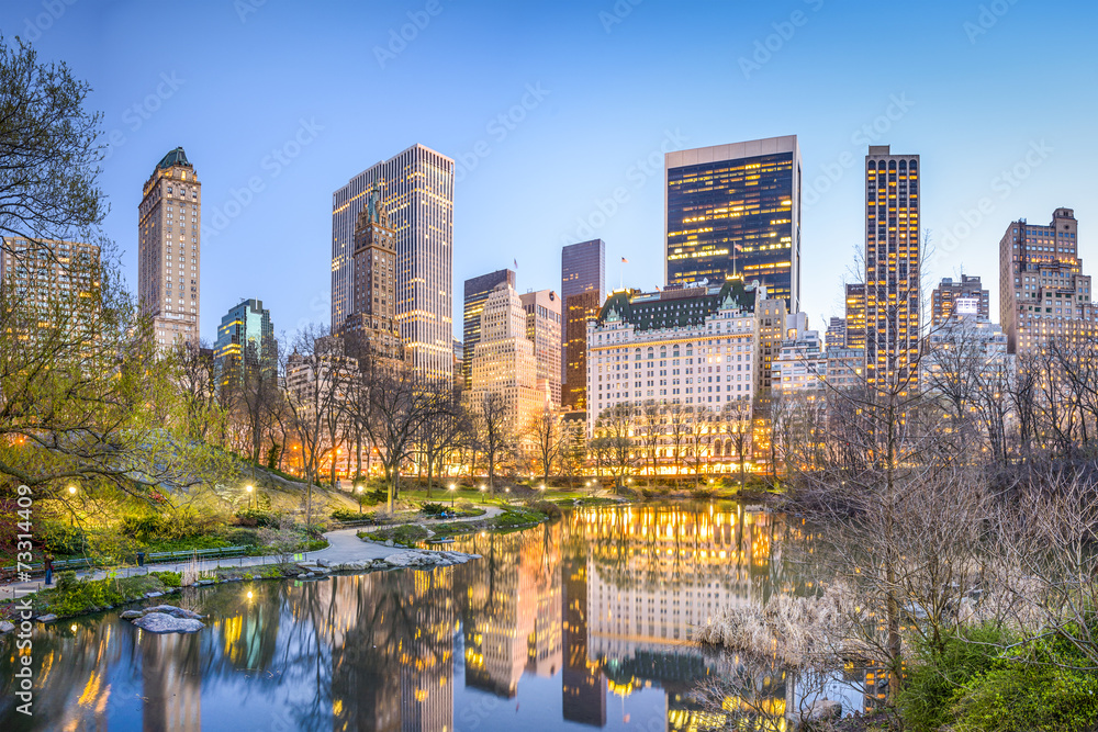 Fototapety, obrazy: Central Park New York City at Dusk
