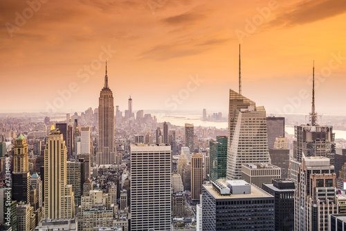 Keuken foto achterwand New York New York City Midtown Manhattan Cityscape Aerial View