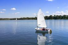 White Boat Sailing