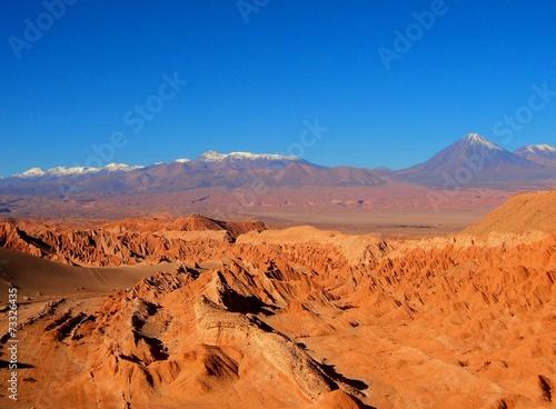 Foto op Aluminium Oranje eclat mountain desert panorama Chile
