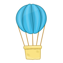 Hot Air Balloon Isolated Illustration