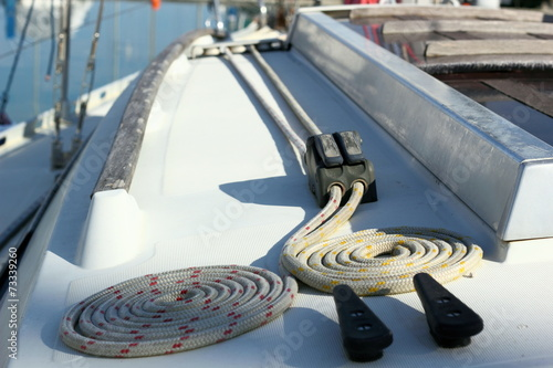 Garden Poster Water Motor sports Ropes on the Sidedeck