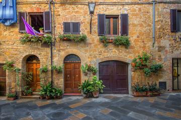 Fototapeta Toskania Toscania , Włochy, Multipulcjano, fragment zabudowy