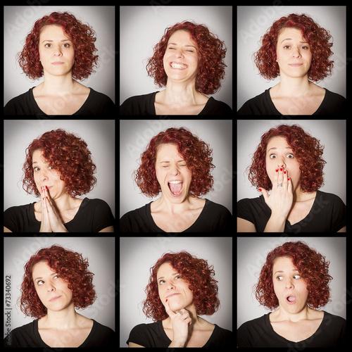 Fotografie, Obraz  expresive woman