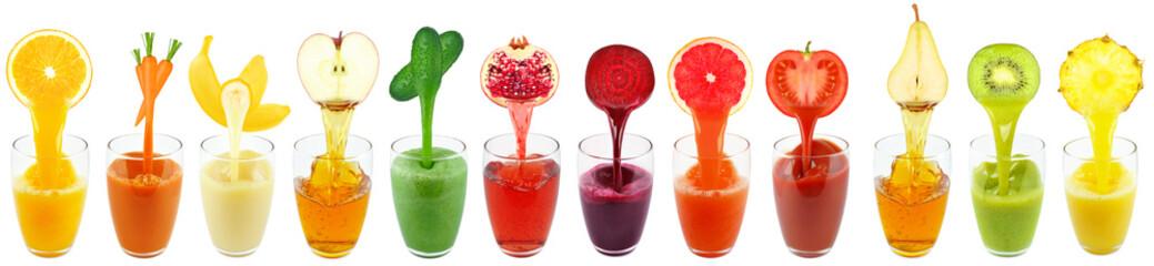 Fototapeta collection juices