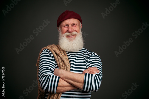 Fotografía  Aislado marinero guapo. Marinero.