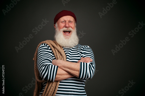 Fotomural Handsome sailor isolated. Seaman.