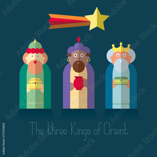 Leinwand Poster The three Kings of Orient wisemen