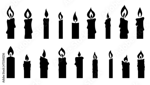 candle silhouettes Wallpaper Mural