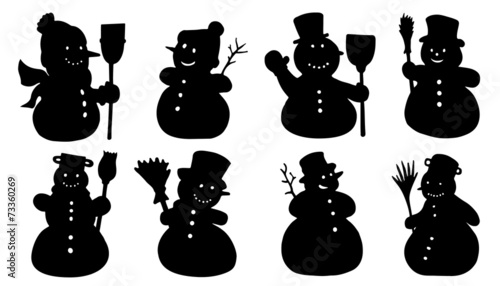 snowman silhouettes buy this stock vector and explore similar vectors at adobe stock adobe stock snowman silhouettes buy this stock