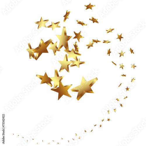 Sterne Goldene Sternschnuppe Schnuppe Schweif Vektor 3d