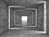 Fototapeta Do przedpokoju - abstract tunnel