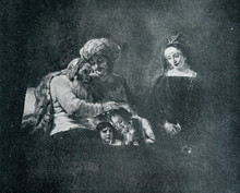 Jacob Blessing The Sons Of Joseph (Rembrandt, 16560