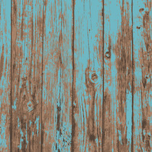Old Blue Realistic Plank Wood ...