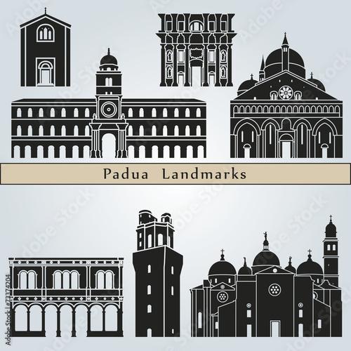 Canvas Print Padua landmarks and monuments