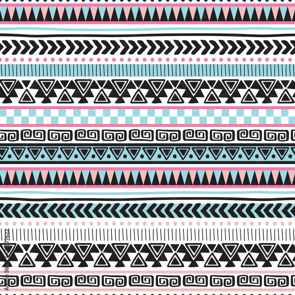colorful aztec vintage pattern vector illustration