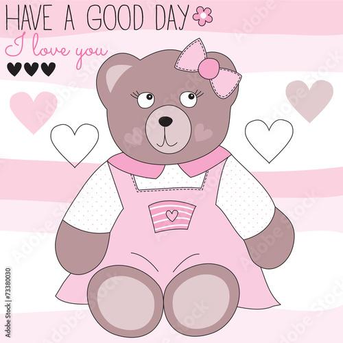 cute teddy bear vector illustration #73380030