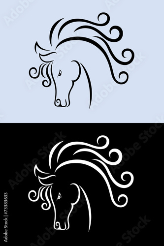 Horse head, art vector decoration
