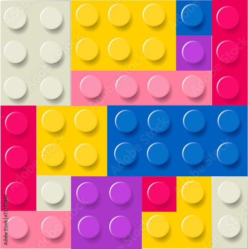 Lego blocks pattern vector © Wiktoria Matynia