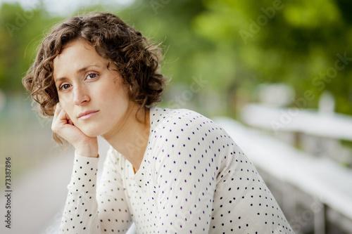 Fotografia  Worried Woman Waiting