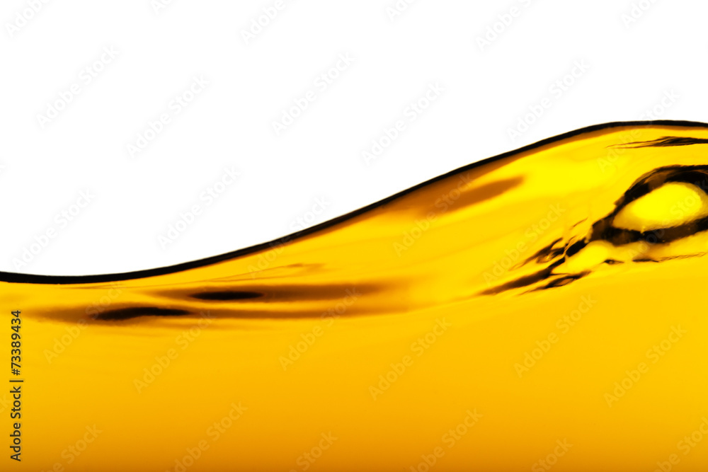Fototapety, obrazy: Oil Wave on a white background